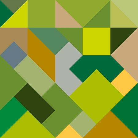 Abstract geometric background in yellow-green tones for design and decoration of flyer, booklets, textiles and wrappers, texture and embossing