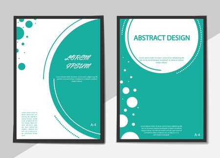 Set of covers in a flat style with circles. Abstract background for flyers, posters, banners or billboards and booklets.  Иллюстрация