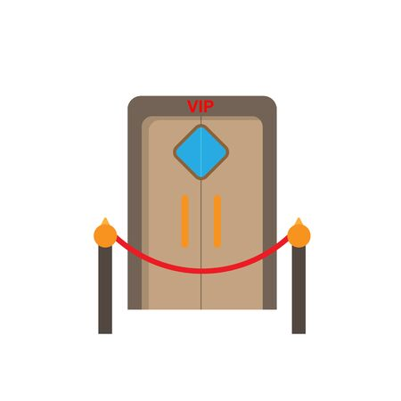 Colored VIP zone icon. Simple flat design for websites and apps  イラスト・ベクター素材