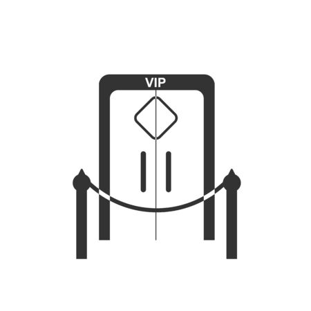 Simple VIP zone icon. Simple flat design for websites and apps