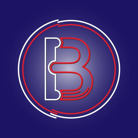 Stylized letter B. Vector image for a logo, website, or app