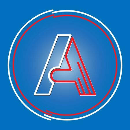 Stylized letter A. Vector image for a logo, website, or app  イラスト・ベクター素材