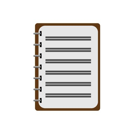 Vector icon for a notebook or Notepad. Simple flat design for website and app Ilustracja