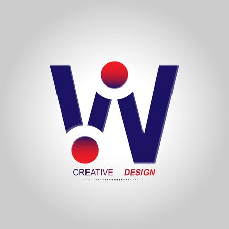 Stylized letter W. Vector image for logo, website and app