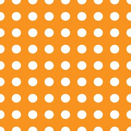 Vector abstract seamless stock color background with circles on orange background for design, packaging, paper printing, simple backgrounds and texture.