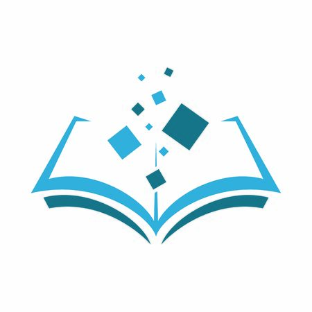 Vector icon of the book. Knowledge source. Flat design isolated on white background