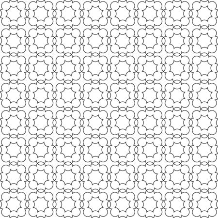 Vector monochrome seamless hand-drawn pattern of arbitrary lines of the square. Stock illustration for backgrounds, textiles and packaging.