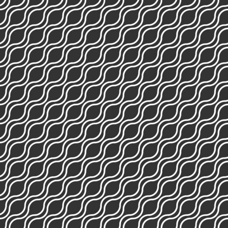 Vector abstract seamless background of wavy lines. Design for backgrounds, textures, textiles and wrappers.