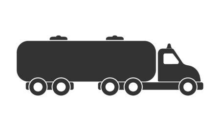 Icon of a car with a tank. Vector illustration isolated on a white background