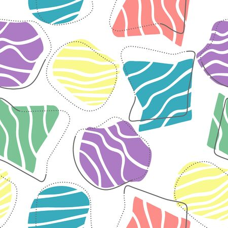 Vector abstract seamless background of arbitrary shapes. Design for backgrounds, textures, textiles and wrappers.
