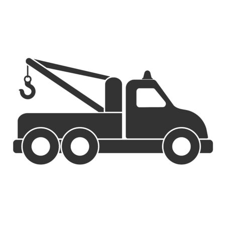 Icon for tow truck or technical assistance. Vector illustration isolated on a white background Vektoros illusztráció