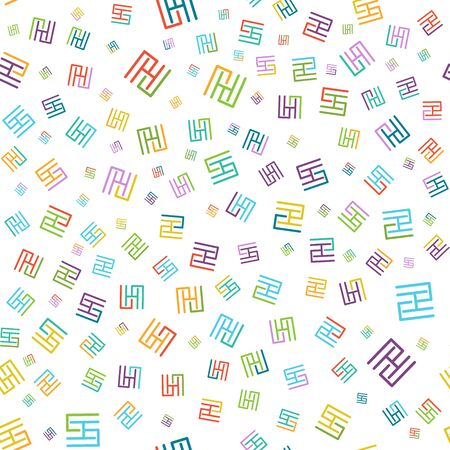Vector seamless color pattern of arbitrary lines for background, banner, screen saver, and design. Vector illustration for texture, textiles or packaging, for design and decoration.