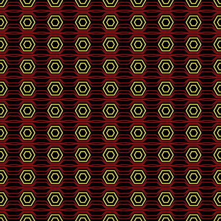 Vector seamless editable pattern of arbitrary geometric shapes for texture, packaging, backgrounds, and textiles.