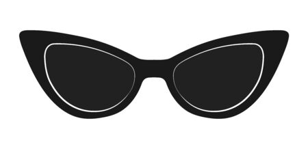 Sunglasses. Vector illustration isolated on a white background for theme design and decoration