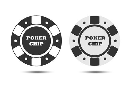 poker chip. Vector illustration. Gambling theme. Isolated on a white background.. Simple design.