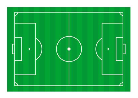 football field. Vector illustration of a schematic illustration, flat style