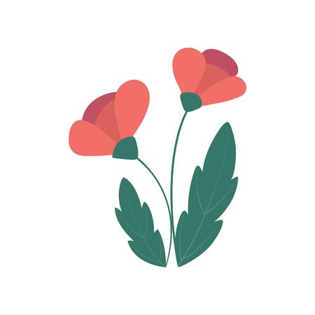Colorful flower isolated on a white background for design and theme design. Vector illustration, flat style