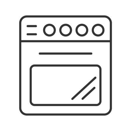 Simple vector icon of a gas or electric stove. Outline illustration isolated on a white background for websites and apps, stickers and stickers