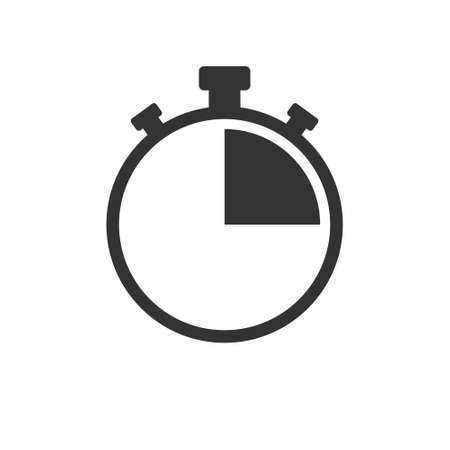 Stopwatch Simple vector icon isolated on a white background for websites and apps, logo, label or sticker Logo