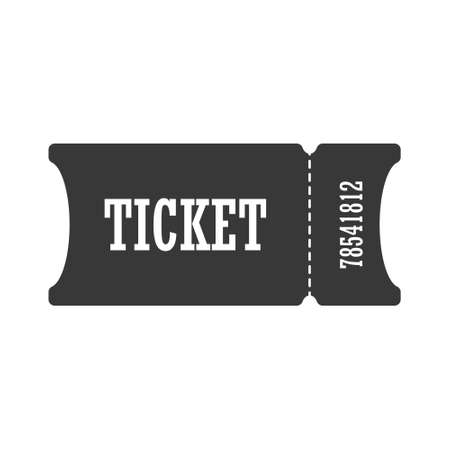 Ticket Simple vector icon isolated on a white background for websites and apps Illustration
