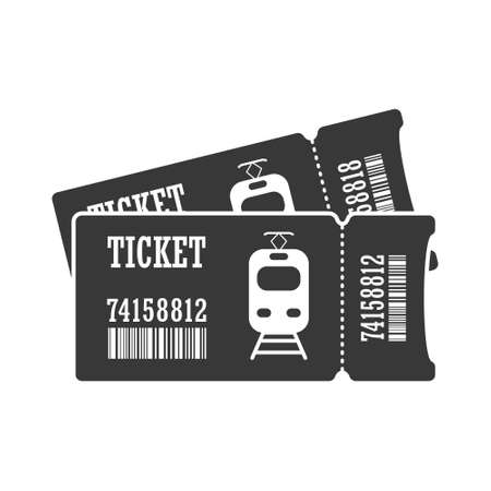 Ticket for an electric train or tram. Simple vector icon isolated on a white background for websites and apps