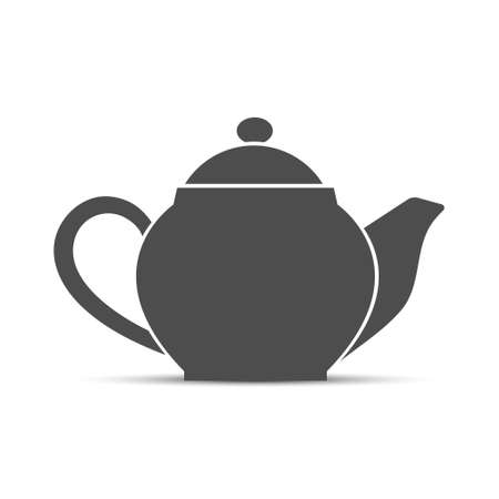 Kettle. Simple vector icon isolated on a white background for websites and apps,  label or sticker