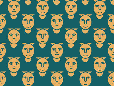 Seamless pattern of people's silhouettes for textiles, textures and simple backgrounds and decoration