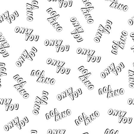 Stylized seamless pattern with the words I LOVE YOU for texture, textiles, packaging and background