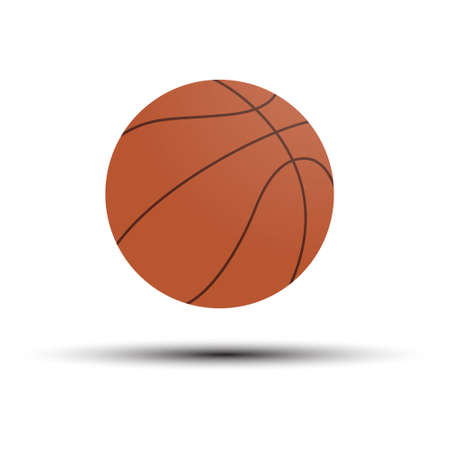 Basketball. Vector illustration for an icon, sticker, sticker or logo isolated on a white background Иллюстрация