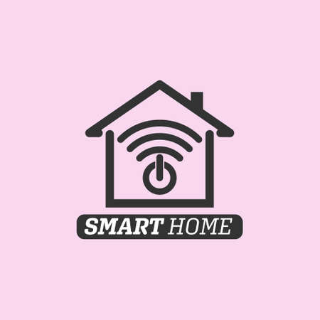 SMART HOME. Simple vector icon isolated on a white background for websites, apps, logos, logos and labels 向量圖像