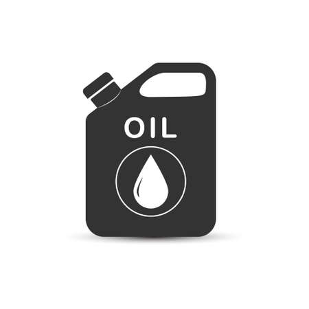 Oil canister. Simple vector icon for thematic design. Isolated on white background. 向量圖像
