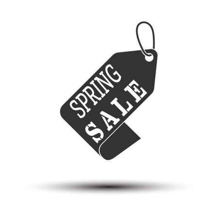 Spring sale sticker for stickers, labels and banners. simple vector illustration isolated on a white background