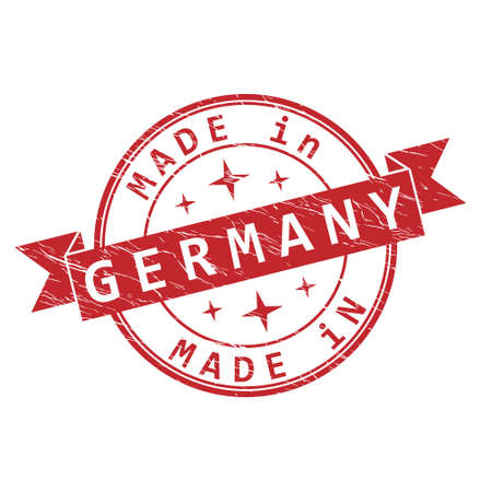 An impression of a seal with the inscription MADE in GERMANY, isolated on a white background Ilustrace