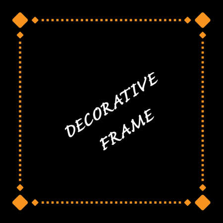 Geometric pattern of the frame. decorative style for postcards, banners, flyers, photos, and text. Vector illustration
