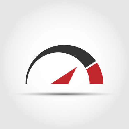 speedometer. Simple vector illustration for an icon. Flat style isolated on white background Illusztráció