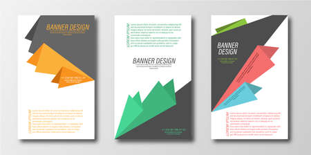 Abstract design template for a banner, poster, or flyer. Flat vector style