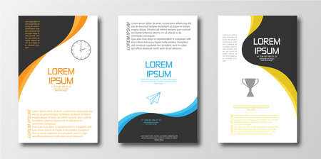Set of abstract design templates for banner or poster, brochure or booklet cover