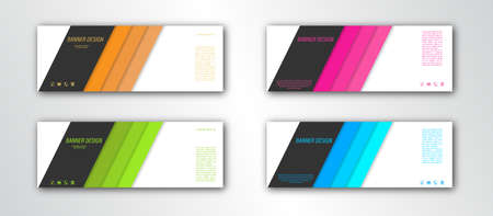 Abstract banner template. Editable vector illustration. Flat style.