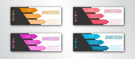 Abstract banner template. Editable vector illustration. Flat design Stock Illustratie