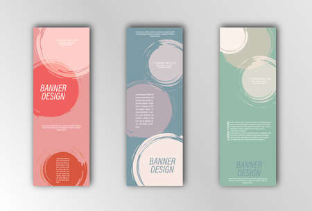 Abstract vector banner template. Illustration for the design of banners, posters, cards and visual content. Grunge design Stock Illustratie