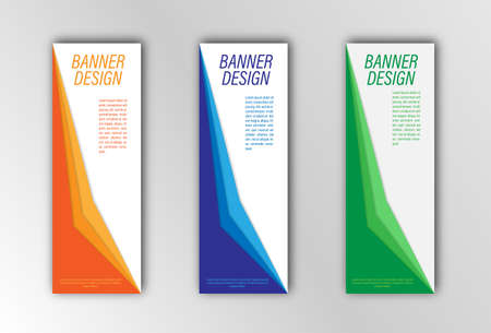 Abstract vector banner template. Illustration for the design of banners, posters, cards and visual content. Creative design