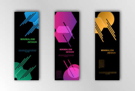 Abstract vector banner template. Illustration for the design of banners, posters, cards and visual content. Minimalist design Stock Illustratie