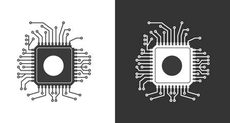 CHIP icon. Vector illustration for thematic design. Flat style