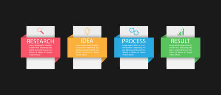 Infographics. Vector template with pictograms for business and finance flowcharts, websites, banners and presentations. Flat style