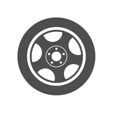 wheel. Simple vector icon isolated on a white background. Flat style Ilustração