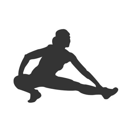 Sports. Silhouette of an athlete. Flat vector icon isolated on a white background. Simple style