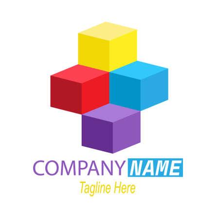 Geometric logo for business. Vector illustration. Simple design