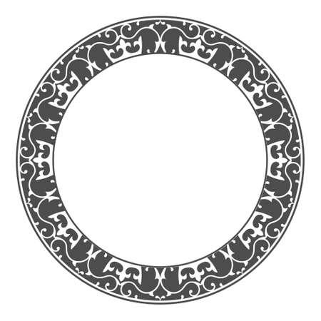 simple round openwork ornament. Decorative round frame. Elegant design, simple style