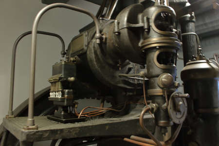 Italian Industrial Diesel generator, early 1900, museum of science and technic, Milan, Italy