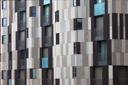 Skycraper grey tiles pattern. hires. Stock Photo